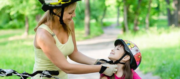 op fietsvakantie met het gezin