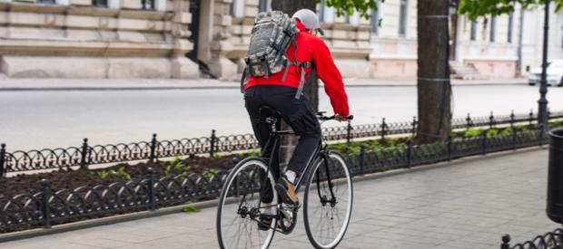 in stad fietsen gezond