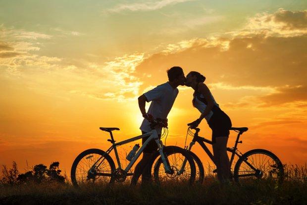 Valentijnsdate fiets