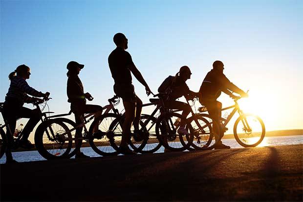 In groep fietsen