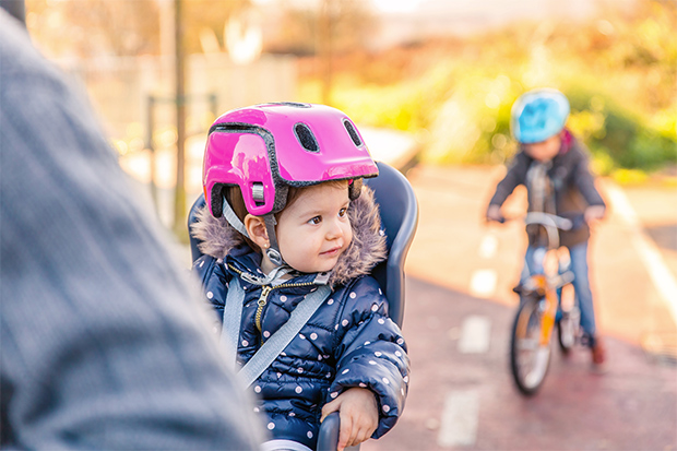 veilig fietsen met baby