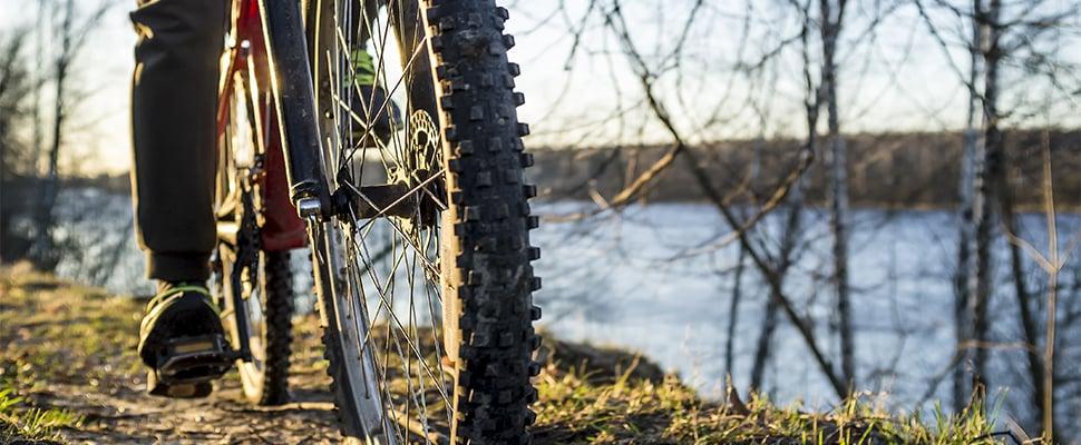 Mountainbike-banden moeten minder hard opgepompt worden